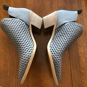 New Gray Dolce Vita Sheer Perforated Ankle Booties